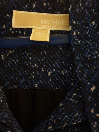 MK Blue Bow Front Button-down Shirt