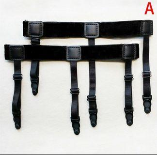 Adjustable Shirt Holder Stay Elastic Men Suspenders Leg Braces