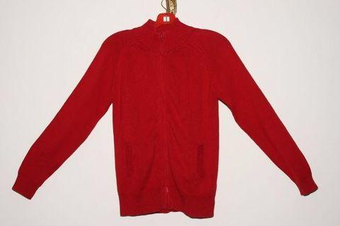 Girls knitted cardigan (red)
