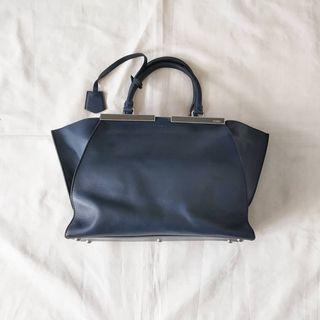 Fendi navy calfskin Leather petite 3 jours bag