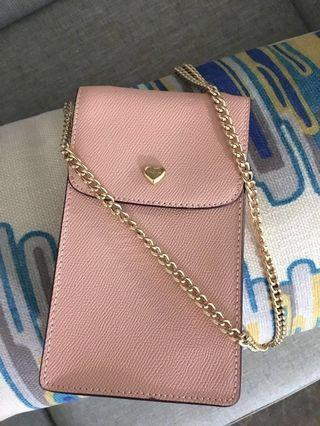Limited edition Coach Phone Crossbody With Lace Heart Print Interior