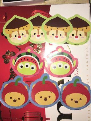 迪士尼 限定正版貼紙  Disney Stickers 維尼Pooh Dale Little Green man三眼仔