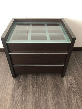 Bedside Table w/compartment (Walnut)