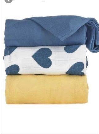 BNIP Tula LOVE SOLEIL Blanket - Yellow Solid
