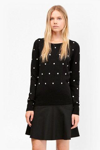 French Connection polka dot jumper