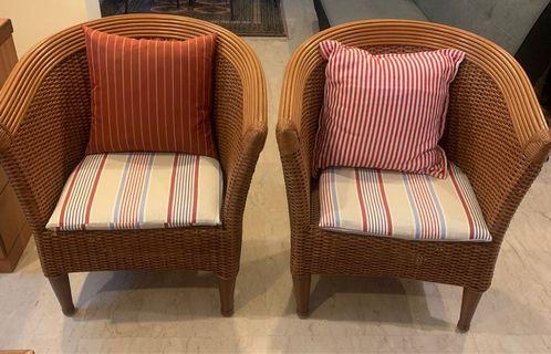 3 piece cane set (arm chairs,1 side table) for living room