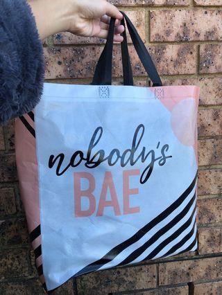 Nobody's bae showbag
