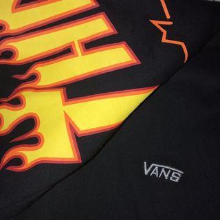 thrasher x vans black hoodie