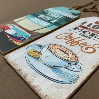 Retro vintage Coffee /  Dream / Travel Signs