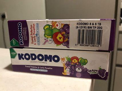 🚚 Kodomo Kids Toothpaste (2 tubes)