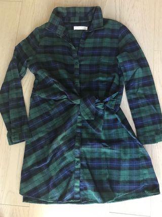 🚚 Zara Green checker dress