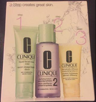 Clinique 3 step brand new skin care