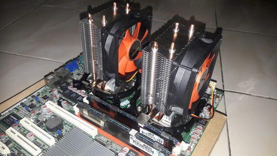 Dual fan Cpu cooler