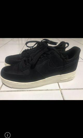 nike air force 1 black suede original