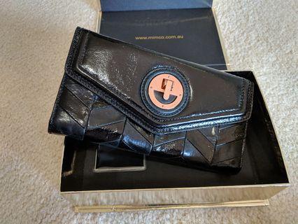 Mimco black wallet