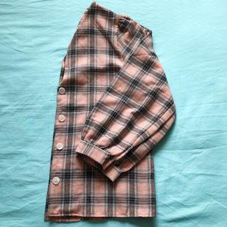 🇰🇷 Pastel Checkered Pink Sleeved Flannel Shirt/Outerwear