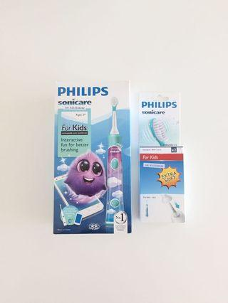 🚚 BN Philips Sonicare Kids Electric Toothbrush with extra toothbrush