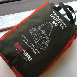 Black Wolf duffle bag