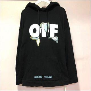 🚚 OFF-WHITE Dali clock/watches hoodie 帽T