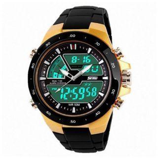 Jam Tangan Pria Dual Time Casio Men Original