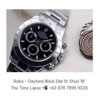 Rolex - Daytona Black Dial Stainless Steel 'M'
