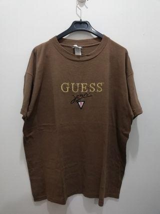 Vtg OG Guess Jean Embroidery Shirt