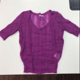 紫色女裝針織上衣