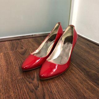正版日牌Sherbet 紅色高踭鞋