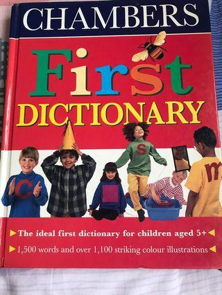 🚚 Hardcover 176 pages Chambers First Dictionary