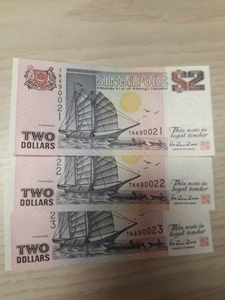 Old 2 Dollar Notes