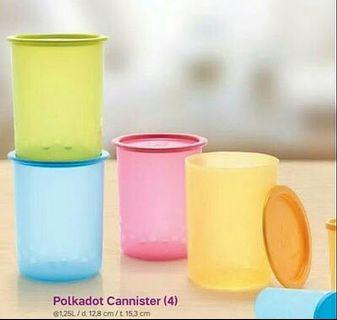 One Touch Polkadot Canister 1.25L (Indo) 1pc (BLUE / GREEN ONLY!!)