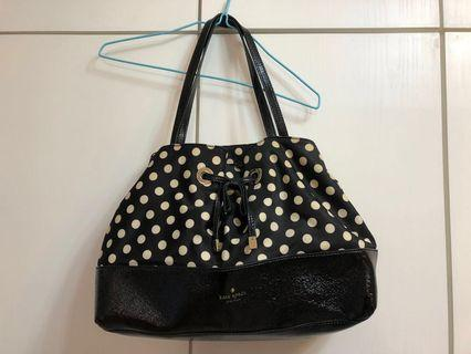 正版特價Kate Spade Designer dotted hangbag黑白波點手袋♠️