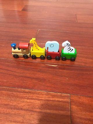 🚚 木作動物小火車