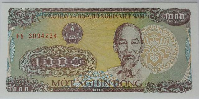 Vietnam 1000 Dong uncirculate bank note