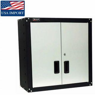 Homak USA Proffessional Garage Wall Cabinet Heavy Duty Metal & Powder Coated with 2 Shelves [34% DISC]