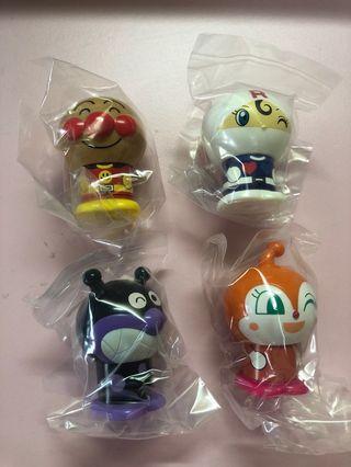 (BN) Set of 4 anpanman capsule toy