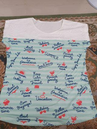 Kaos shirt bahan satin