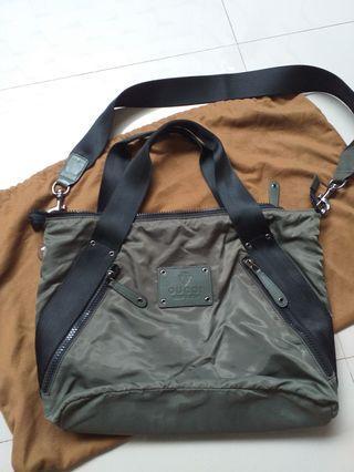 gucci canvas sling bag