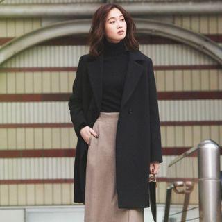 UNIQLO Black Wool Coat xs