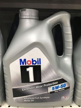 Mobil 1 Synthetic motor oil 5W-50