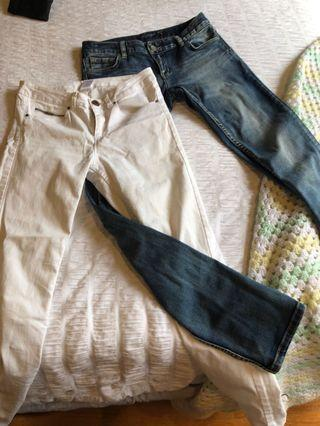 Just Jeans low rise straight leg plus free white Kmart Jeans