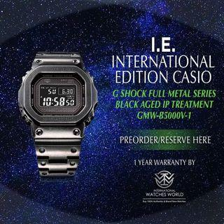 CASIO INTERNATIONAL EDITION G SHOCK FULL METAL SERIES AGED FINISH GMW-B5000V