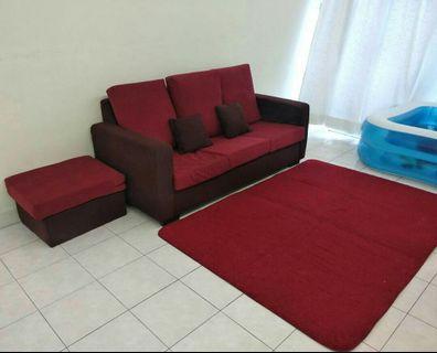 New L Shape Sofa .. free carpet