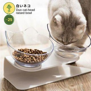 【PROMO】 Duo Cat-Head Raised Bowl