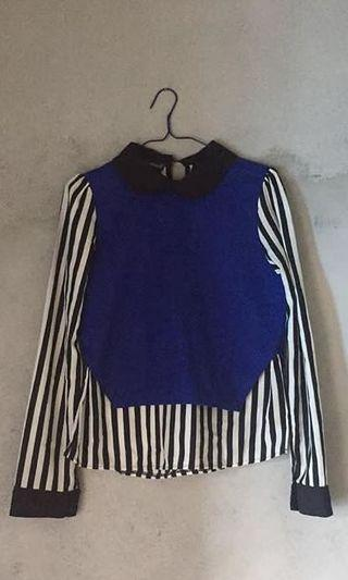 Stripe Blouse by Miami Beach