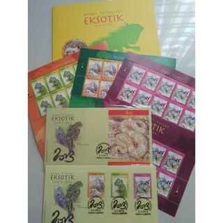 Haiwan Peliharaan Eksotik Folder (Stamp)