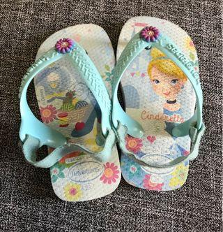 Havaianas Cinderella Sandals with free Ipanema Sandals Size 6