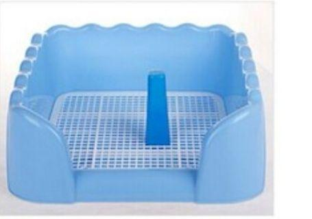 Pee Tray (L) Blue color, half covered