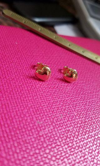 "18K750 Yellow Gold ""HappyHeart"" Earrings  18K750 黃金心形耳環"