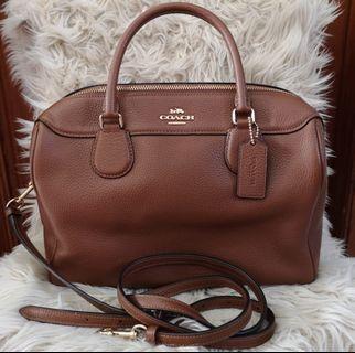 Coach brown full leather authentic #BAPAU